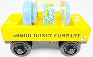 Thomas the Tank Engine Wooden Sodor Honey Barrel Company Train Car with removable Real Like Honey Barrel 2 Piece Set Loose