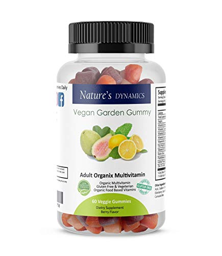 Natures Dynamics Vegan Garden Gummy Adult Organic Multivitamin, 60 Count