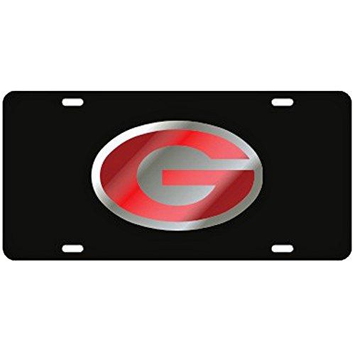 Craftique Georgia Bulldogs Black Laser Cut License Plate