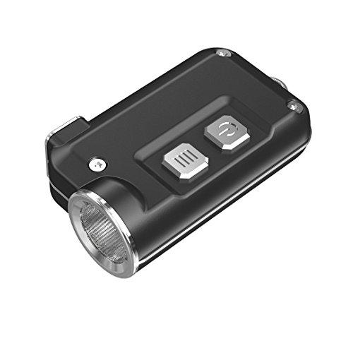 Nitecore Tini - Torcia in Metallo Portachiave con Caricatore USB, Grigio