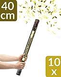 10 Konfetti Shooter Gold 40cm