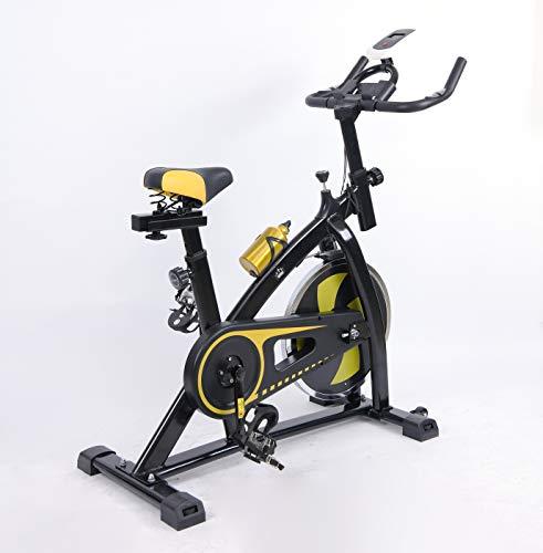 Entrega al día siguiente Heavy Duty Flywheel Estudio aeróbico Entrenamiento Deportes Bicicleta Ejercicio Fitness Ciclismo Home Fitness Gym Monitor LED (Botella de agua incluida