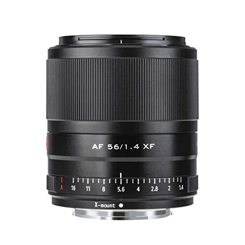 VILTROX AF 56mm f1.4 Autofokus Objektiv für Fuji X Mount Kameras (APS-C Format, Augen AF, einstellbare Blende f1.4-f16), Schwarz