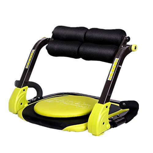GUNAI Máquina de Entrenamiento Abdominal Plegable Multifuncional Fitness Crunch Entrenador de AB...