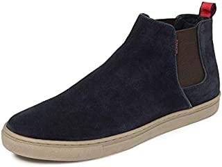 TONI ROSSI Men's Blue Brice Leather Casual Boots (650165)