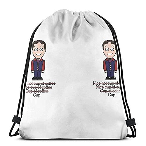 IUBBKI Arthur From Cabin Pressure Mug Waterproof Foldable Sport Sackpack Gym Bag Sack Drawstring Backpack