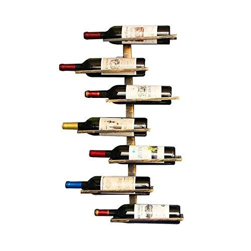 Botellero para vinos de pared vintage retro para restaurantes, bares, mobiliario diario del hogar, etc. Hold 7 bottles