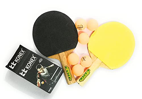 Forever Online Shopping Table Tennis Racquets Pack of 2 and Table Tennis Balls Pack of 9 Orange