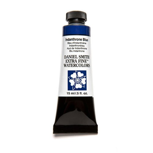 Daniel Smith Extra Fine Watercolor 15ml Paint Tube, Indanthrone Blue (284600043)
