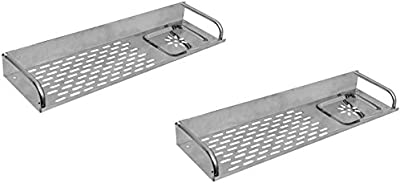 """SBD Multi Purpose Stainless Steel Shelf (15""""x4.5"""") inch with Soap Dish Chrome Finished (Pack of 2)"""