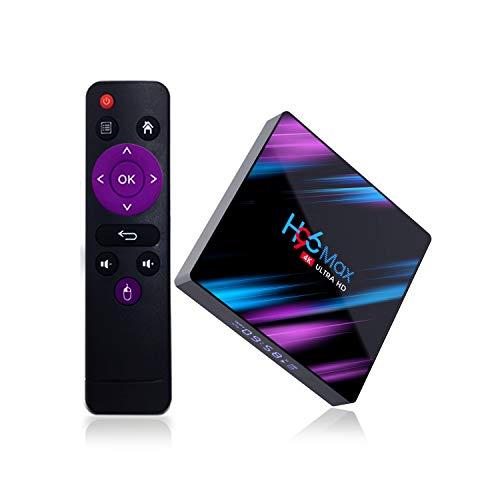 Xilibod H96 MAX TV Box Android 10.0 4GB RAM/32GB ROM, Penta-Core Mali-450, RK3318 Quad-Core 64bit Cortex-A53, H.265 Decoding 2.4GHz/5GHz WiFi Smart TV Box - Model No.:H96max 4GB 32GB