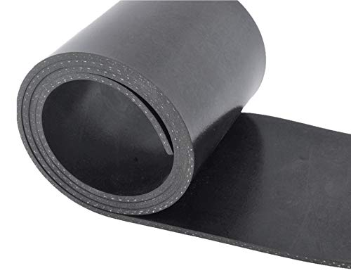 Gummistreifen mit Gewebeeinlage Stärke 5mm viele Größen Schutzmatte Gummidichtung Bodenmatte Gummimatte Gummiunterlage Industriequalität Gummi-Matte-Platte Vollgummi Schürfleiste Hartgummi
