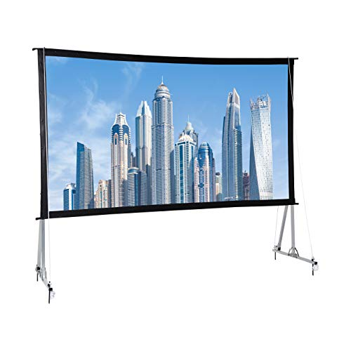 Lowest Prices! AmazonBasics Outdoor Projector Screen with Stand - 16:9, 120-Inch
