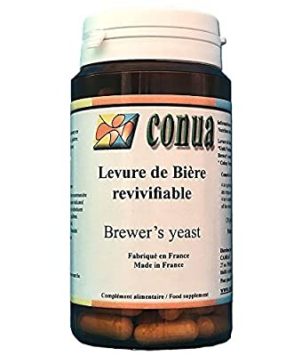 Brewer's yeast 120 capsules 19 billion CFU per day : invigorating active digestion hair nails skin Conua since 2003