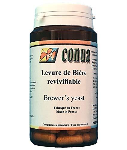 Levadura de cerveza viva 120 cápsulas: vigorizante digestión uñas pelo activa de la piel del acné