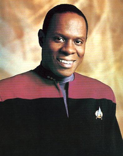 Star Trek Deep Space Nine ER meint, (Avery Brooks) SCI FI TV Fernseher Rare Vintage Kante Original Lager Postkarte Poster Print 11x 14
