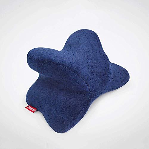 Bollaer Schlafkissen für das Nickerchen im Büro, Nackenkopfstütze, Memory-Schaumstoff, abnehmbarer waschbarer Samtbezug
