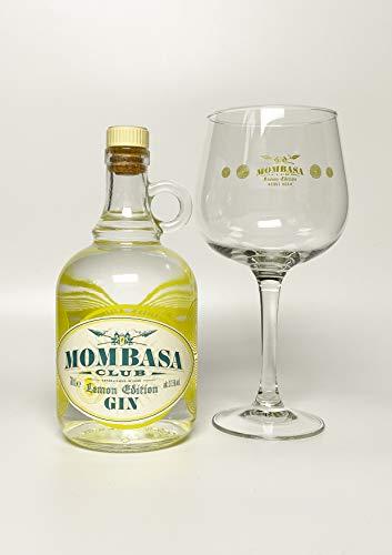 Mombasa Lemon Edition Estuche + Copa Ginebra Infusionada con Limón + Copa - 700 ml