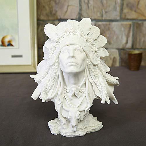 LOSAYM Estatua Decorativa Estatuas para Jardín Indios Figura Estatua Figura Decoración Busto Bosquejo Práctica Modelo/Resina Escultura/Artesanías Regalos De Empresa Al por Mayor