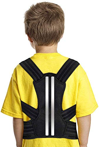 DOACT Posture Corrector for Kids and Teens Upper Back Brace to Prevent Kyphosis, Slouching, and Humpback, Adjustable Back Posture Brace Under Clothes for Boys and Girls S