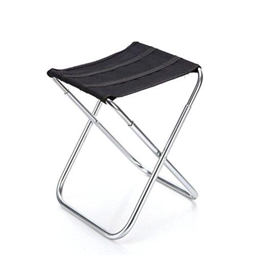 NUOLUX Sgabello pieghevole in alluminio portatile per campeggio, pesca, pic-nic all'aperto sport