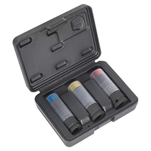 Sealey SX039 - Juego de 3 llaves de vaso para muesca cuadrada de 1/2'