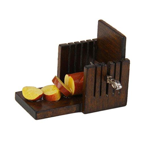 Trancheuse De Pain En Bois Miniature pour Maison De Poupée Echelle 1:12