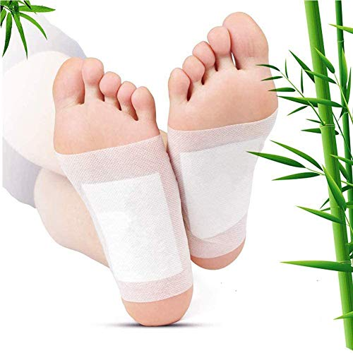 Detox Fußpflaster, 100 Stück Detox Pflaster Fuß, Fusspflaster zur Entgiftung, zur Entfernen von Körpergiften, Schmerzlinderung, Besserer Schlaf, Gesundheitspflege, Fußpflege-Pads mit Klebefolien