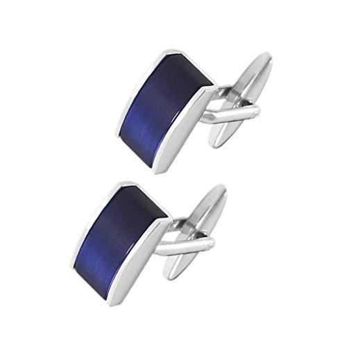Sharplace Boutons de Manchette Rectangle en Laiton Cadeau Anniversaire Amis Copains Mâle