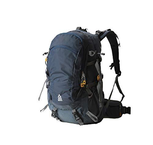 GYBN 40L Sporttasche Outdoor-Rucksack, wasserdichte und tragbare Reittasche mit Regenschutz, Bergsteigertasche, Reiserucksack-Royalblue