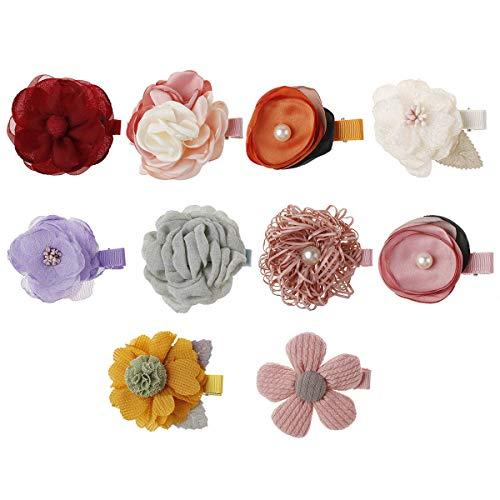 Tianhaik haarklemmen, bloemenmotief, haarband, voor kinderen, baby, bloem, elastisch, haaraccessoire
