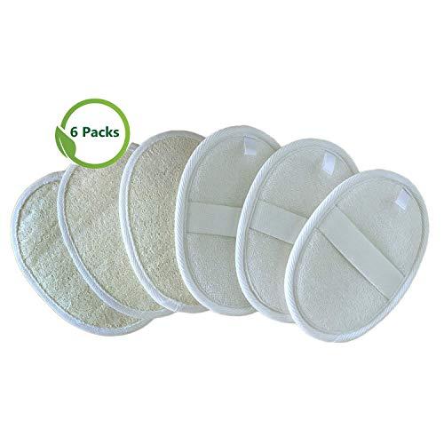Sportout Luffaschwamm Rückenscrubber,100% Natur Loofah Pads, Luffa Handschuhperfekt für Heilbad und Dusche, 6er Pack