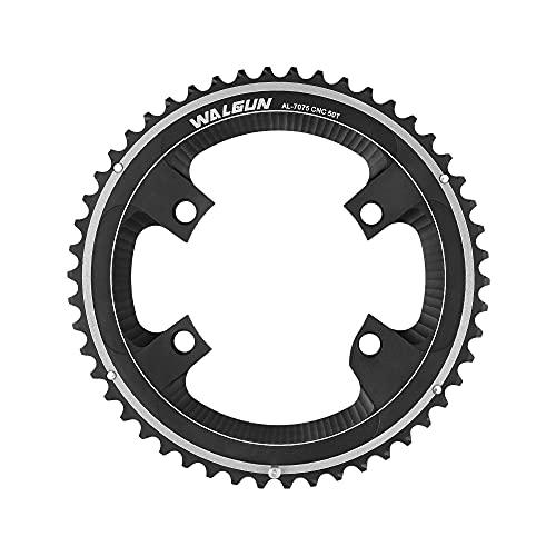 WALGUN WG931 Solo Ronda Bicicleta De Carretera 110BCD 4 Pernos 11 Velocidad CNC Cadena Anillos 50T 52T 53T (52T)