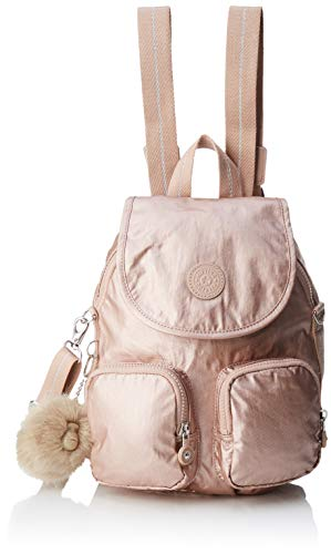 Kipling Damen Firefly Up Rucksack, Gold (Metallic Blush), 22x31x14 Centimeters