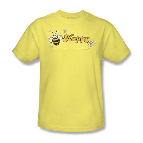 Garden - - Abeille heureuse adulte Banana T-shirt à manches courtes pour les hommes, XX-Large, Banana