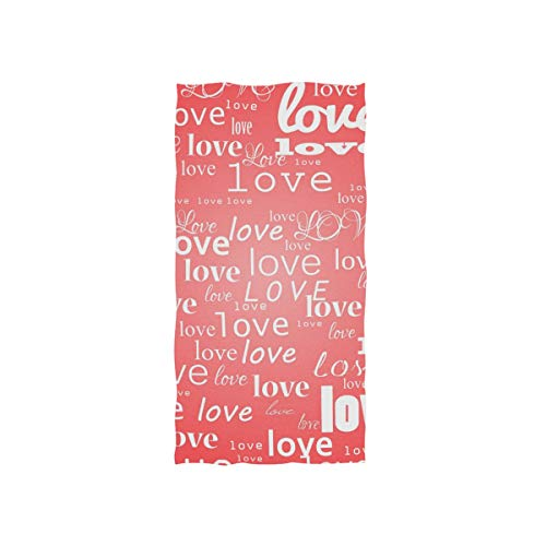 Jiayangzi Love Caption Microfiber Towels Lightweight Hand Towel Super Absorbent Adult Washcloth Face Soft Towels for Sport Swimming Yoga Camping Gym Beach