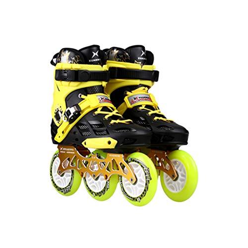 XZ15 Pattini in Linea, 3 Ruote 110MM della Rotella for Adulti Singolo Flash Fila Skates Completa Pattini a rotelle (Color : #2, Size : 39 EU/7 US/6 UK/24.5cm JP)