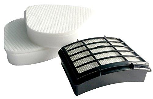 2 Pack Kit Pre-filter Foam and Felt for Shark Navigator Lift-away NV350 Nv351 Nv352 Nv355 Nv356 Nv357 + 1 Hepa Filter For Shark Part # XFF350 & # XHF350