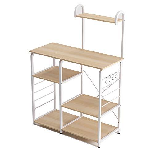 soges Estante de cocina Estante de horno microondas, Multi-función Utensilios de cocina Estantes de almacenamiento