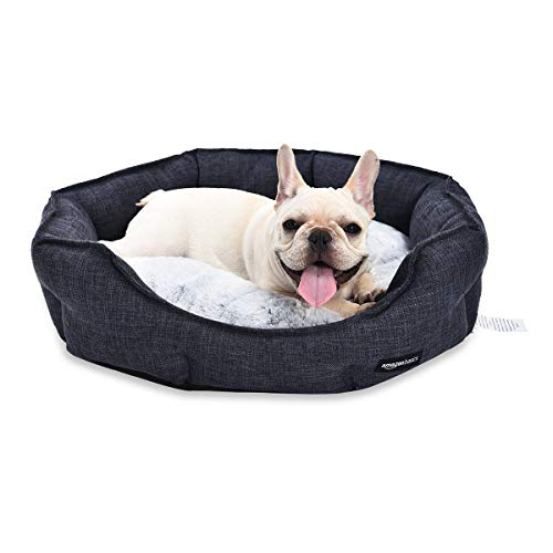 Amazon Basics Cuddler Pet Bed For Cats or Dogs - Soft and Comforting - Medium, Grey