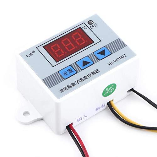 Termostato digital, interruptor de termostato, carcasa de acero inoxidable Tratamiento de sellado de resina de alta precisión para la carcasa del equipo del sistema de aire(DC12V)