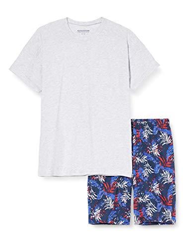 Schiesser Jungen Anzug Kurz Zweiteiliger Schlafanzug, Grau (grau-Mel. 202), (Herstellergröße:164)