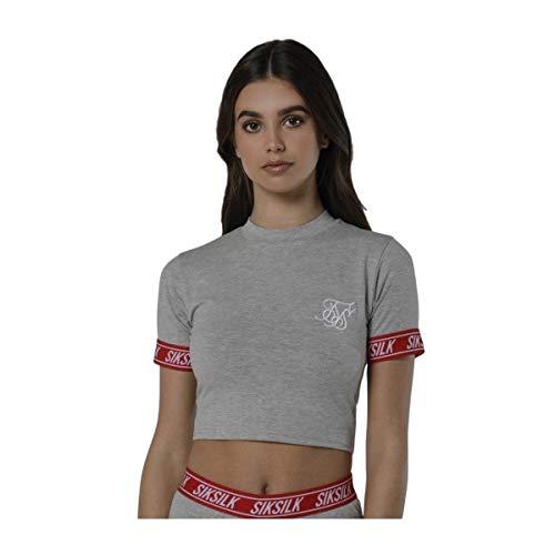 Sik Silk Camiseta Elastic Cuff Crop Gris