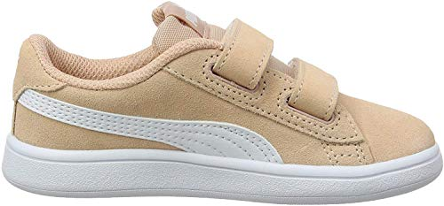 Puma Unisex-Kinder Smash v2 SD V Inf Sneaker, Pink (Peach Parfait White), 26 EU