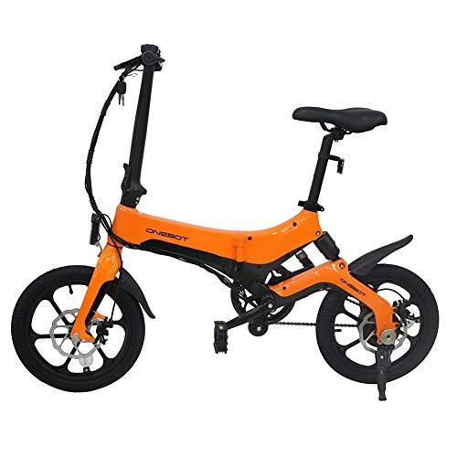 Bicicleta eléctrica Plegable: Bicicleta Plegable ONEBOT S6, Ajuste de 3 velocidades, Cuadro Ligero de aleación de magnesio, neumático Antideslizante y Resistente al Desgaste, Adecuado para Adultos