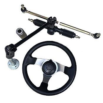 Niome 110cc Go Kart 300mm Steering Wheel Full Steel 32cm Gear Rack Pinion
