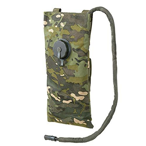 8Fields Mochila de hidratación clásica táctica Molle + cámara plana de 3 litros para trekking camping militar Multicamo Tropic Talla única