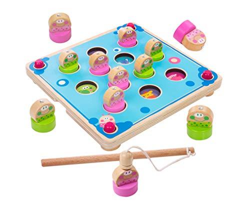 Yx-outdoor Juguete de Juego de Pesca de Aprendizaje temprano Montessori, Juego de Mesa para niños, Juguetes de Memoria de ajedrez, Material didáctico de Madera para educación temprana