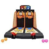 Mini juego de tiro de baloncesto de escritorio, máquina de baloncesto de expulsión de doble dedo, cancha de baloncesto de mesa para niños, juego interactivo de fiesta en casa