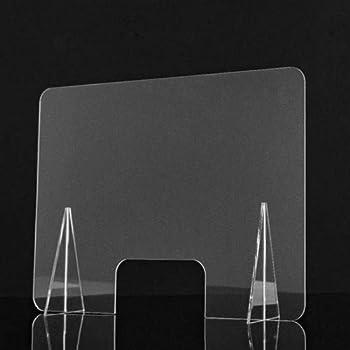 Mampara de Protección para mostradores, Policarbonato/Metacrilato Compacto 3-4 mm, Varias medidas (70cm x 60cm): Amazon.es: Salud y cuidado personal